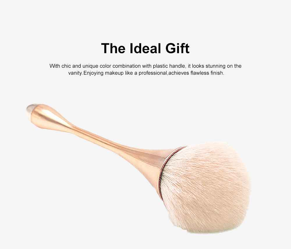 Metallic Makeup Brush, Multifunctional Brush with Small Waist Shape of Electroplating Plastic 2