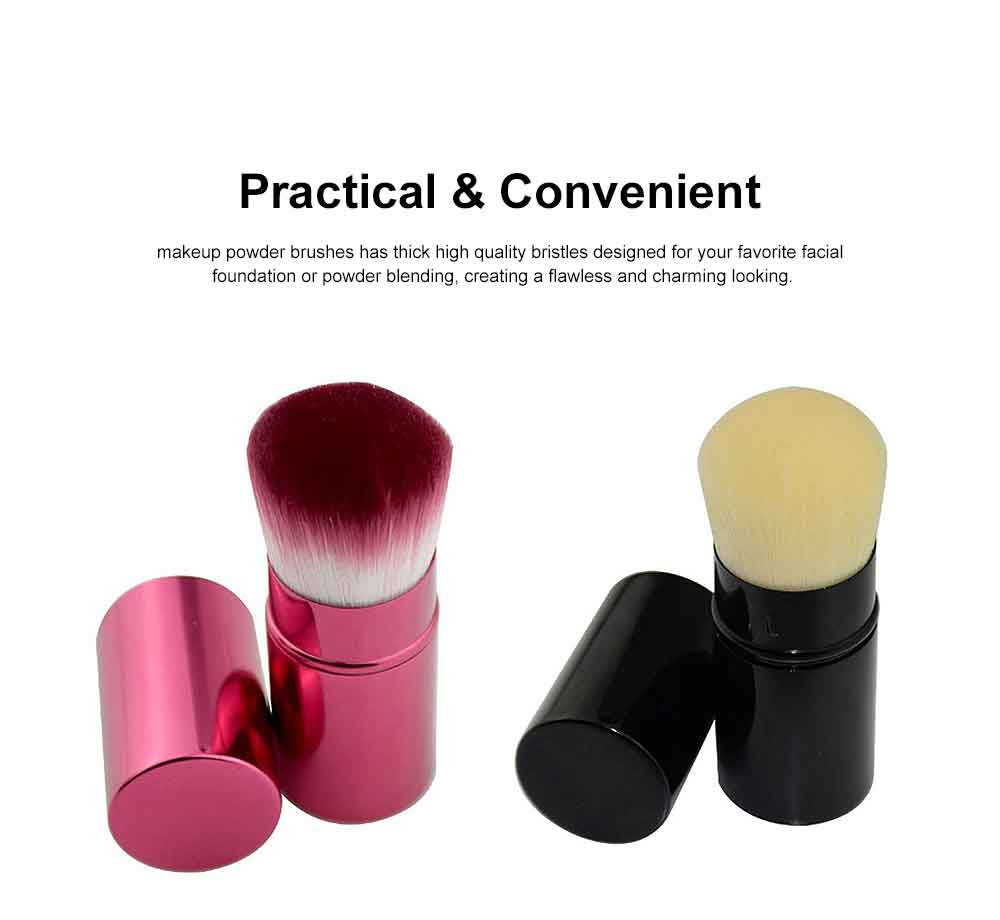 Retractable Makeup Blush Brush Blending Powder, Ultra-soft and Portable Cosmetic Tools for Women 3