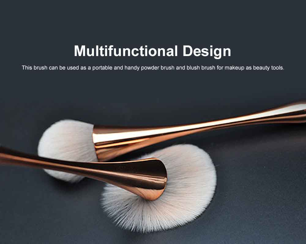 Metallic Makeup Brush, Multifunctional Brush with Small Waist Shape of Electroplating Plastic 5