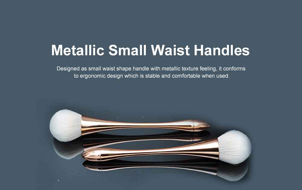 Metallic Makeup Brush, Multifunctional Brush with Small Waist Shape of Electroplating Plastic 3