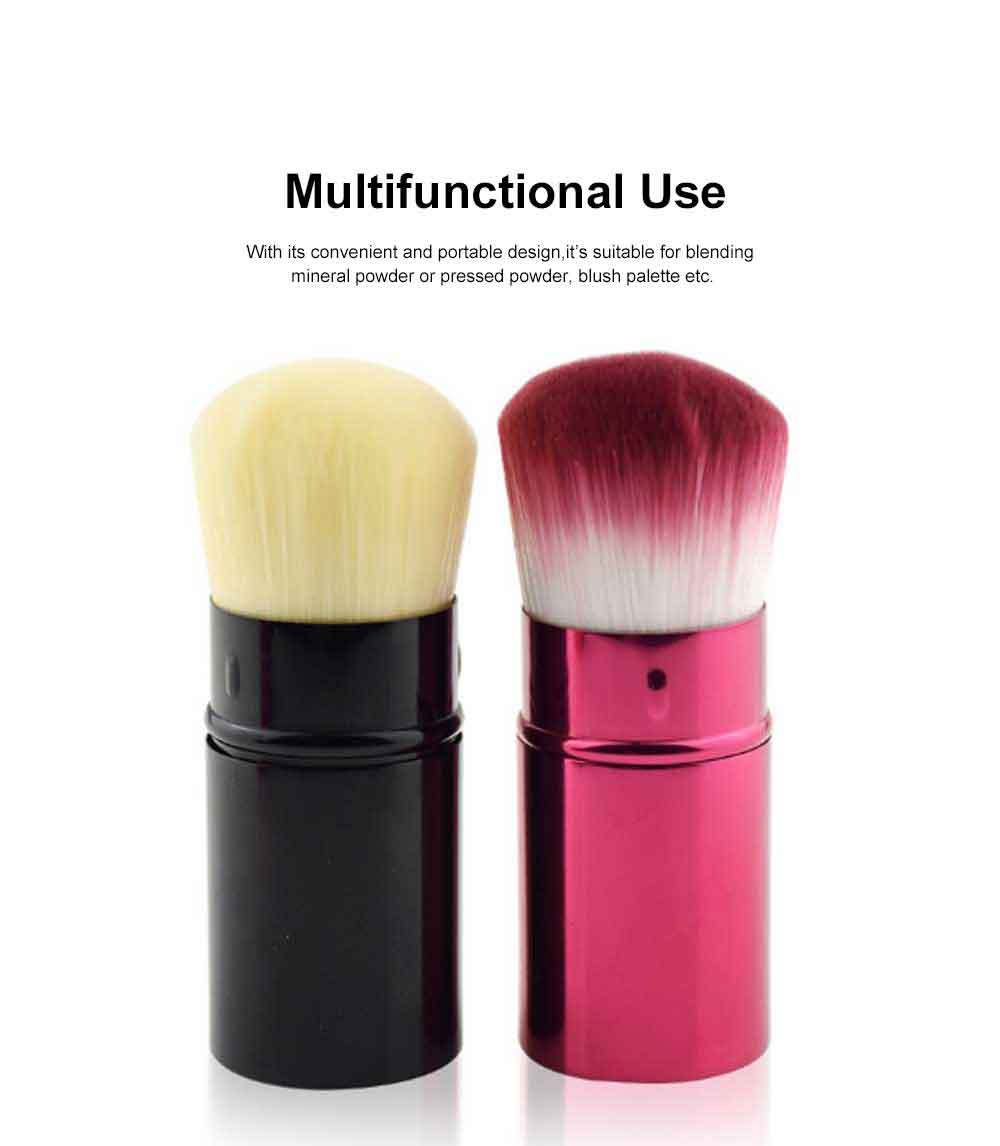 Retractable Makeup Blush Brush Blending Powder, Ultra-soft and Portable Cosmetic Tools for Women 5