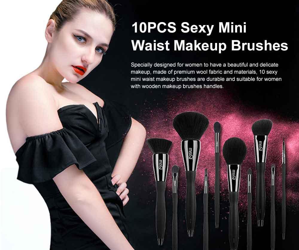 10PCS Sexy Mini Waist Makeup Brushes with Magnet Brush Barrels 0