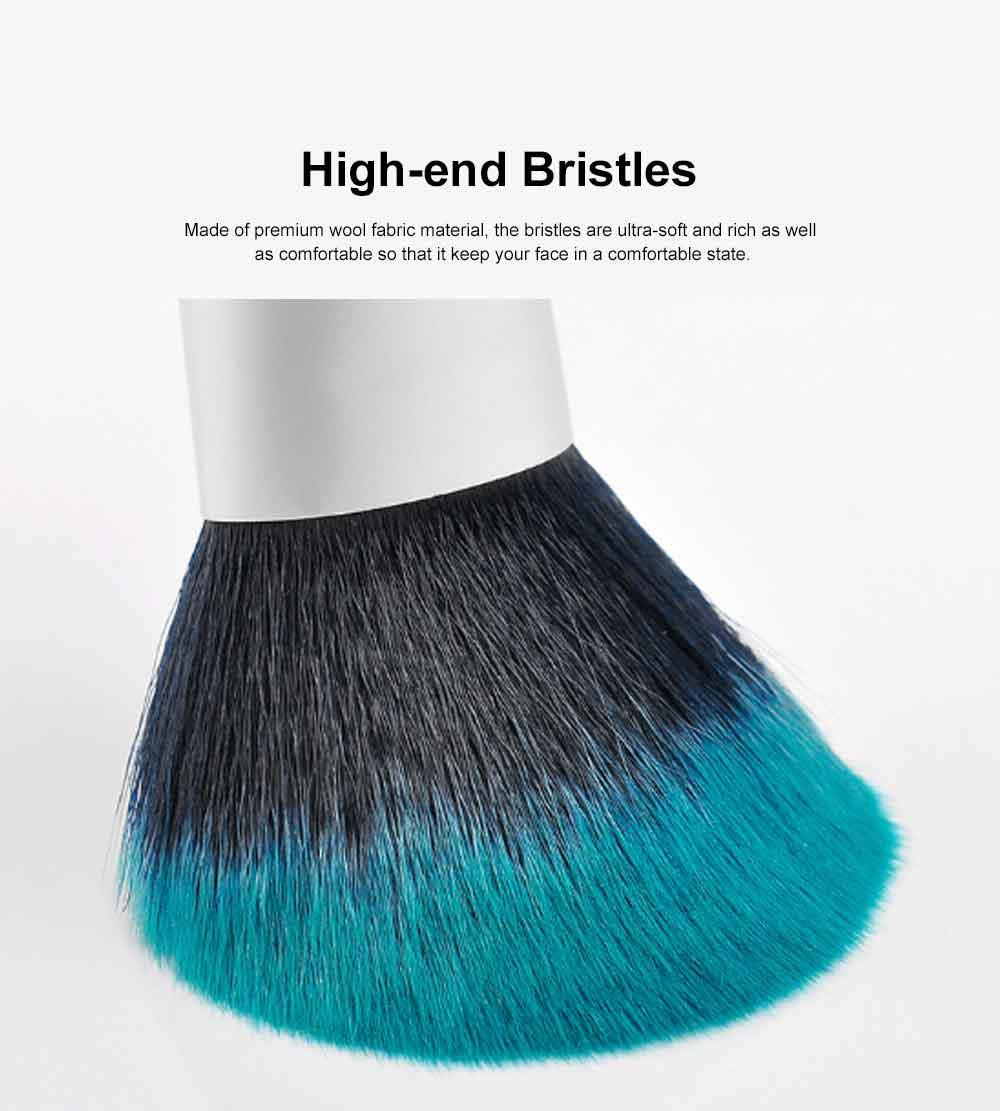 Fireflies Makeup Brushes Set with Reactive Dyed Cloth Bag, Makeup Brushes for Women, Cosmetic Tool, 10PCS 1