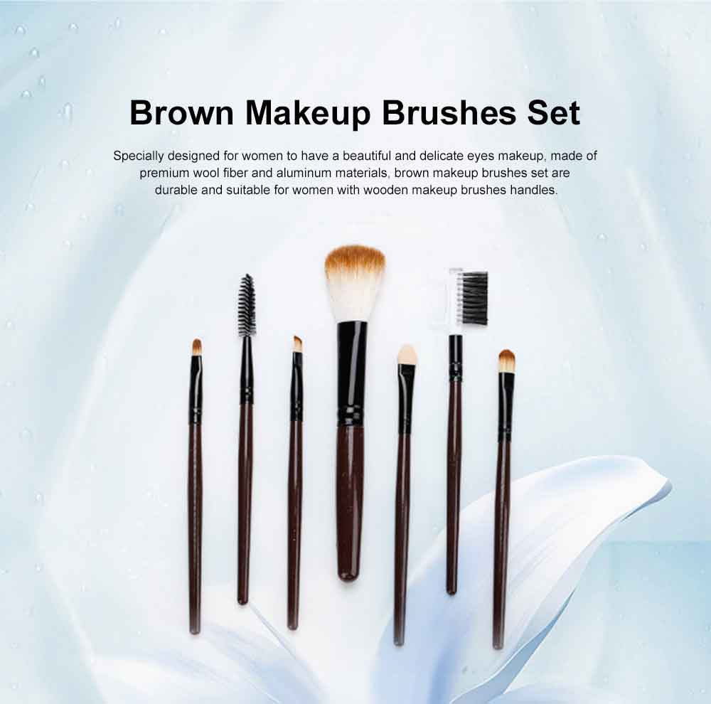 Brown Makeup Brush Set with Leather Cosmetic Bag, Professional High Quality Eyes Makeup Brushes for women 0
