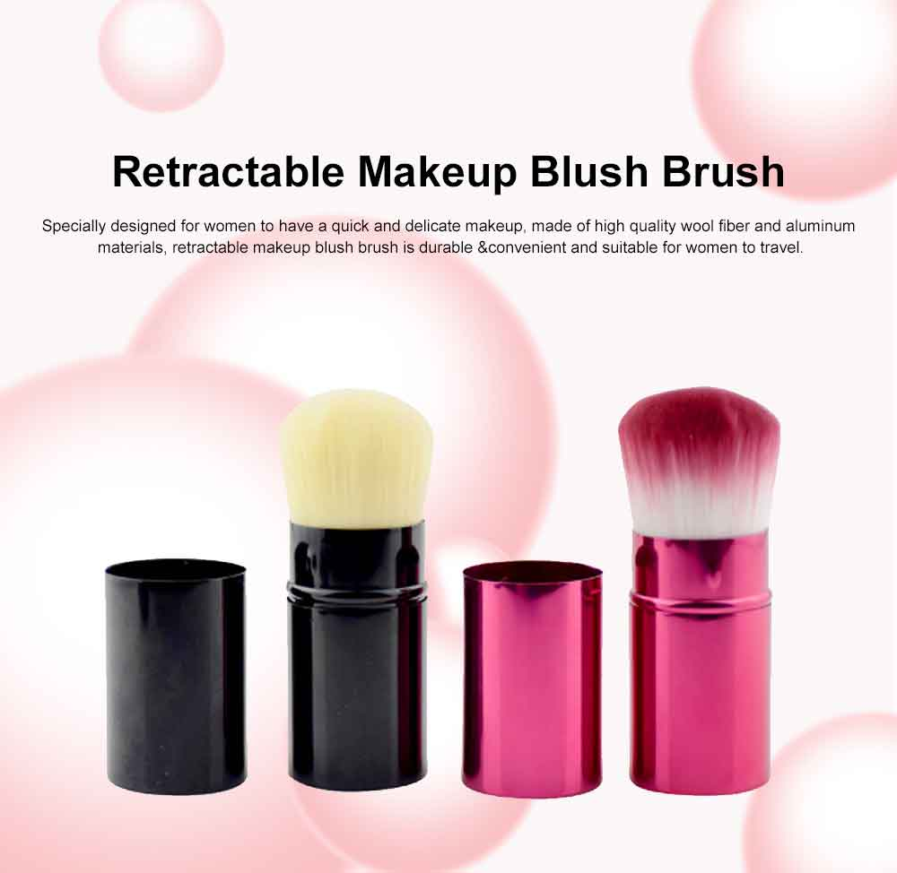 Retractable Makeup Blush Brush Blending Powder, Ultra-soft and Portable Cosmetic Tools for Women 0
