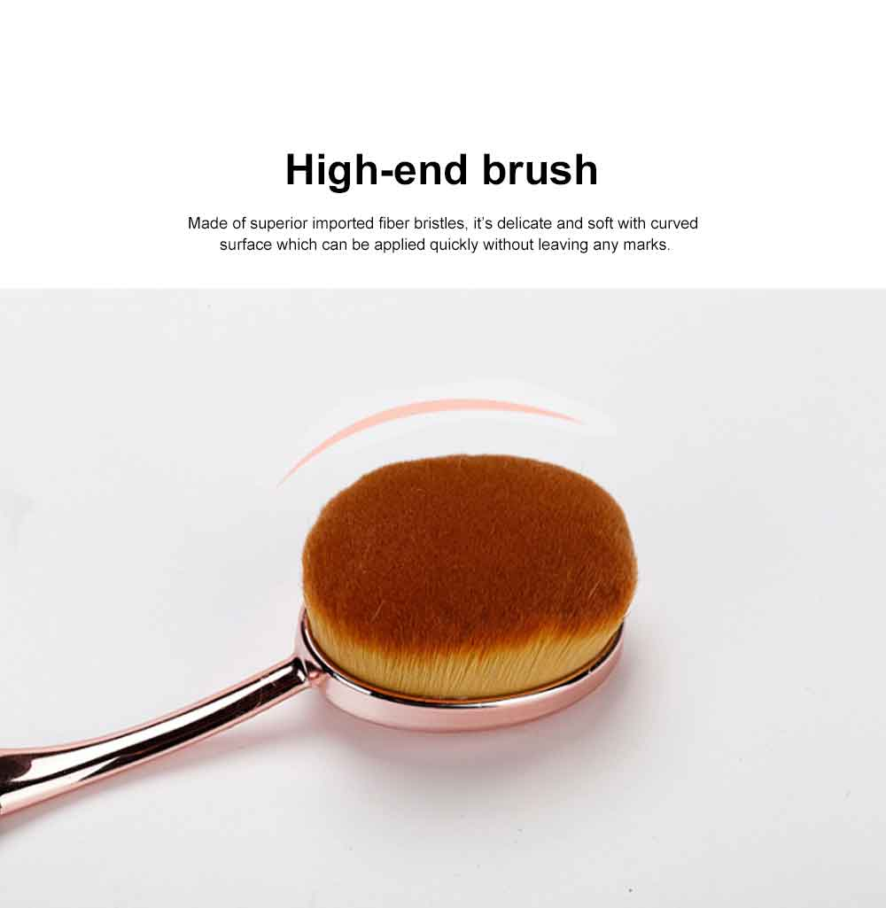 Rose Gold Makeup Brushes Set, Multifunctional Brushes with toothbrush Shape, Cosmetic Tools for Women 1