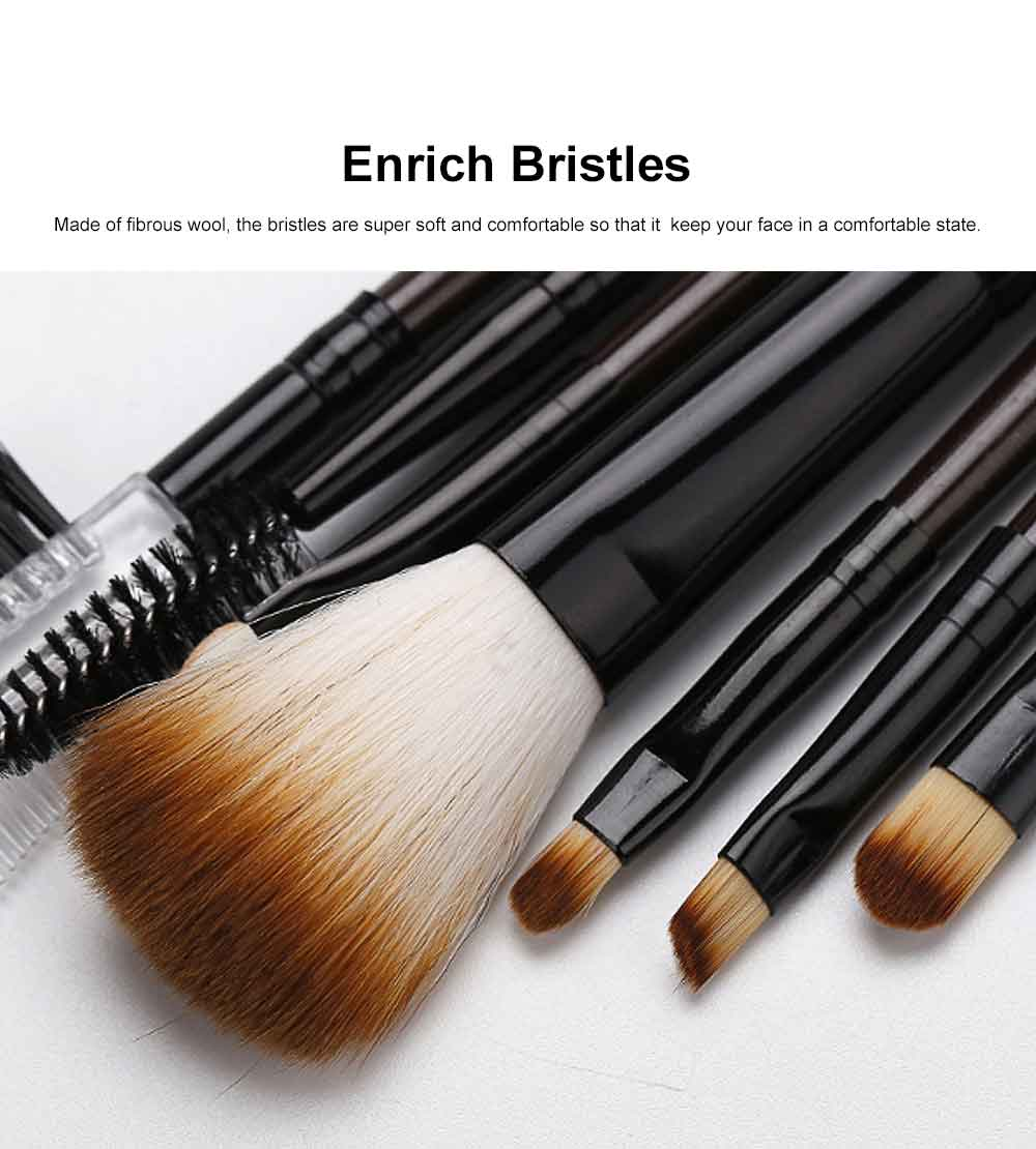 Brown Makeup Brush Set with Leather Cosmetic Bag, Professional High Quality Eyes Makeup Brushes for women 1