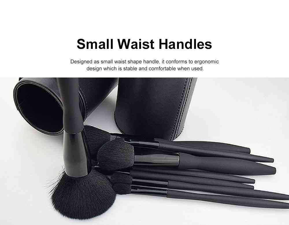 9 Makeup Brushes Set, Multifunctional Brushes with Small Waist Shape, Cosmetic Tools for Women 2