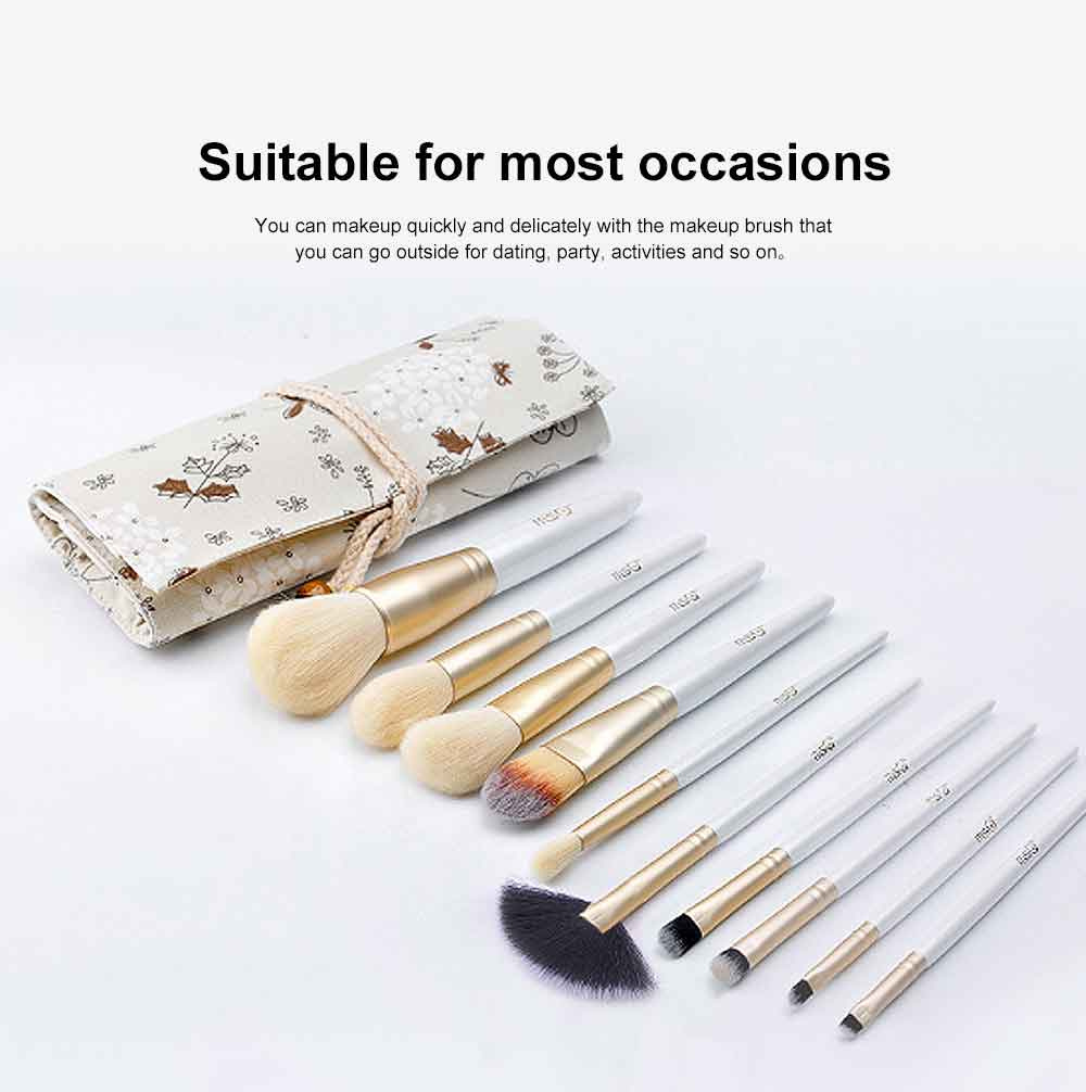 Makeup Brushes Set Professional 10PCS with Relief Cosmetic Storage Bucket, Cosmetic Tool Makeup Brushes for Women 5