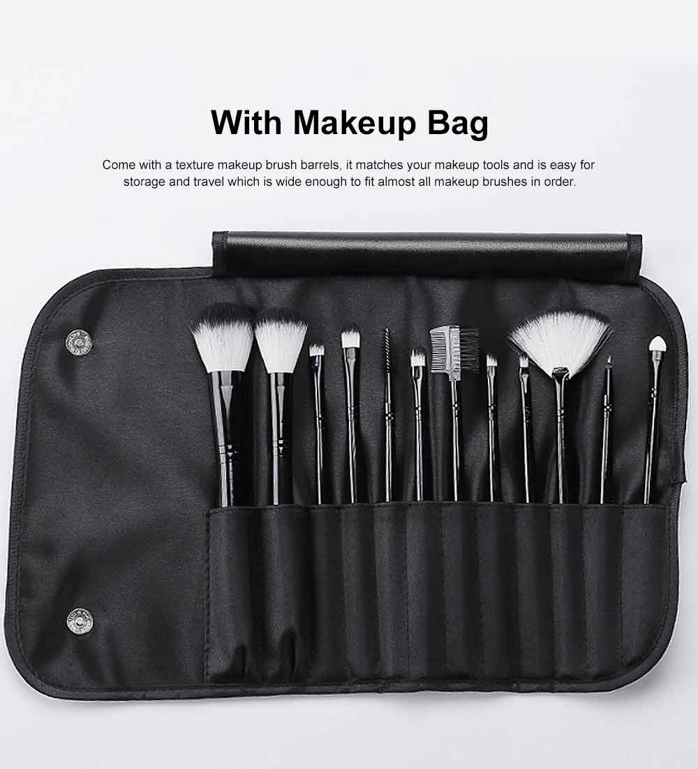 Professional Eye Makeup Brushes Set, 12PCS Makeup Brush Set with Brush Barrels for women 5