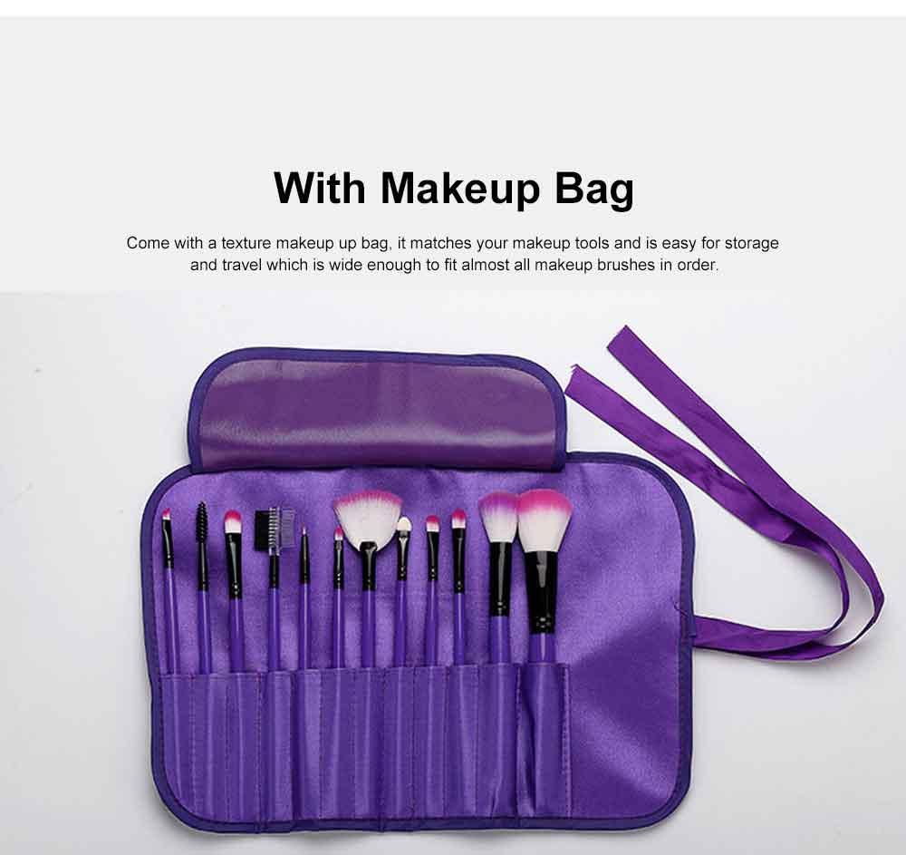 12PCS Makeup Brushes Set Makeup Brushes for Eye-shadow Concealer Eyeliner Brow Blending Brush Cosmetic Tool 4