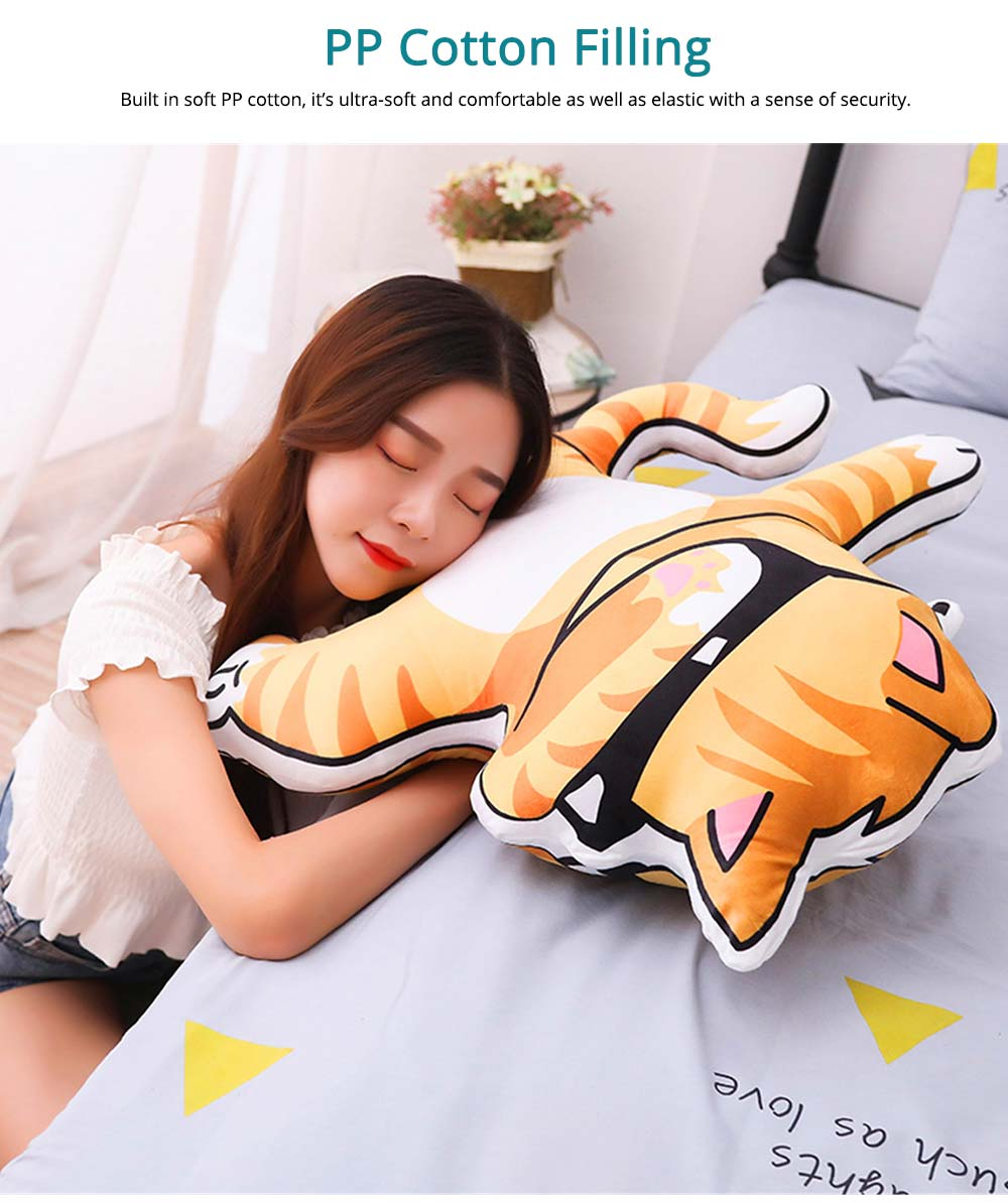 Hip-hop Youth League Hold Pillow, Comfortable Animals Doll with Metal Zipper, Printing Design Cotton Pillow 5