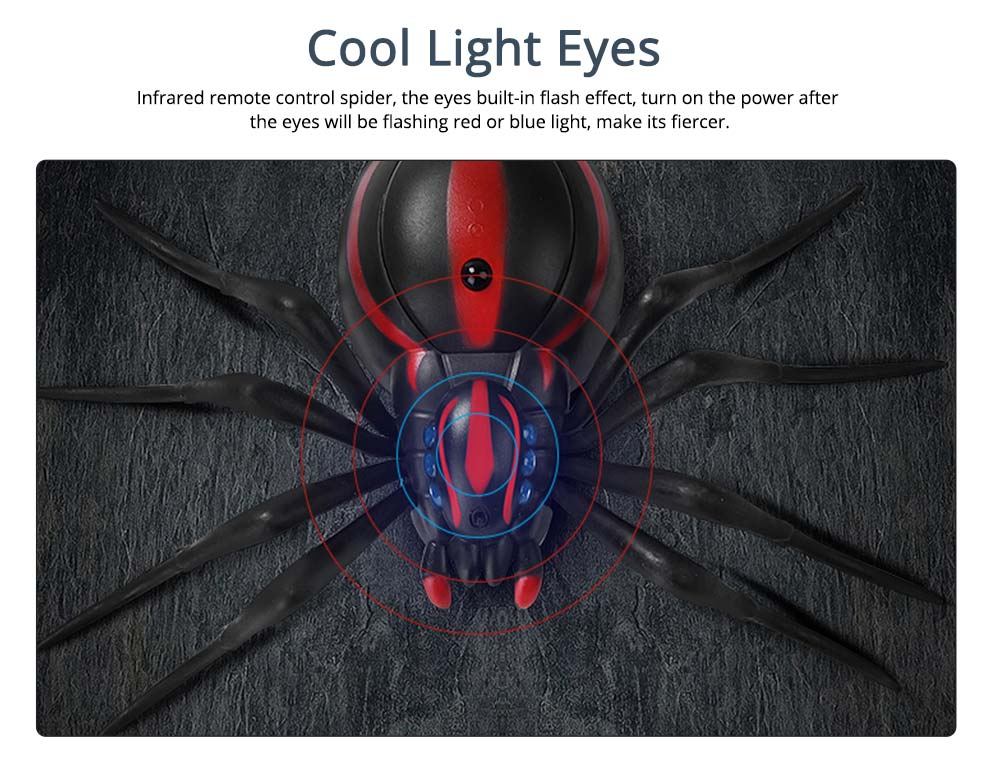 Imitation Electric Cool Spiders With Lighting Effects and Can Be Infrared Remote Control, Wacky Toy Same as Tik Tok 3
