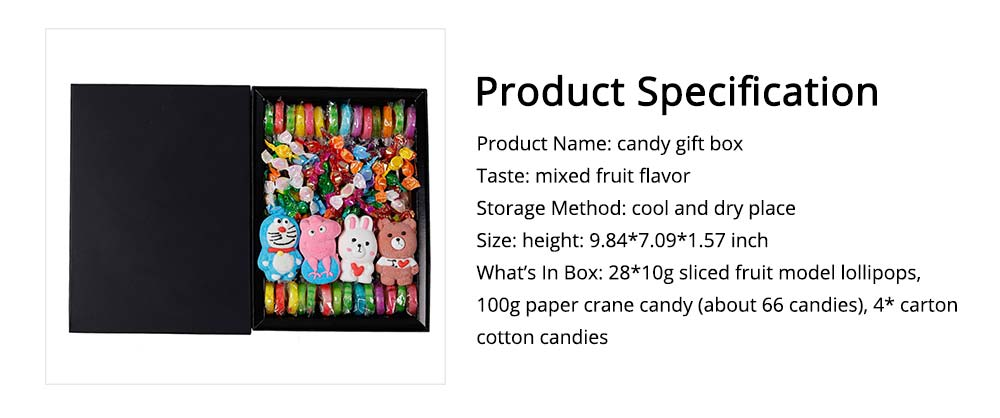 Cute Creative Candy Marshmallow Lollipop Gift Box for Children, Delicate Carton Painting Sticker Candy Present for Lovers Family 5