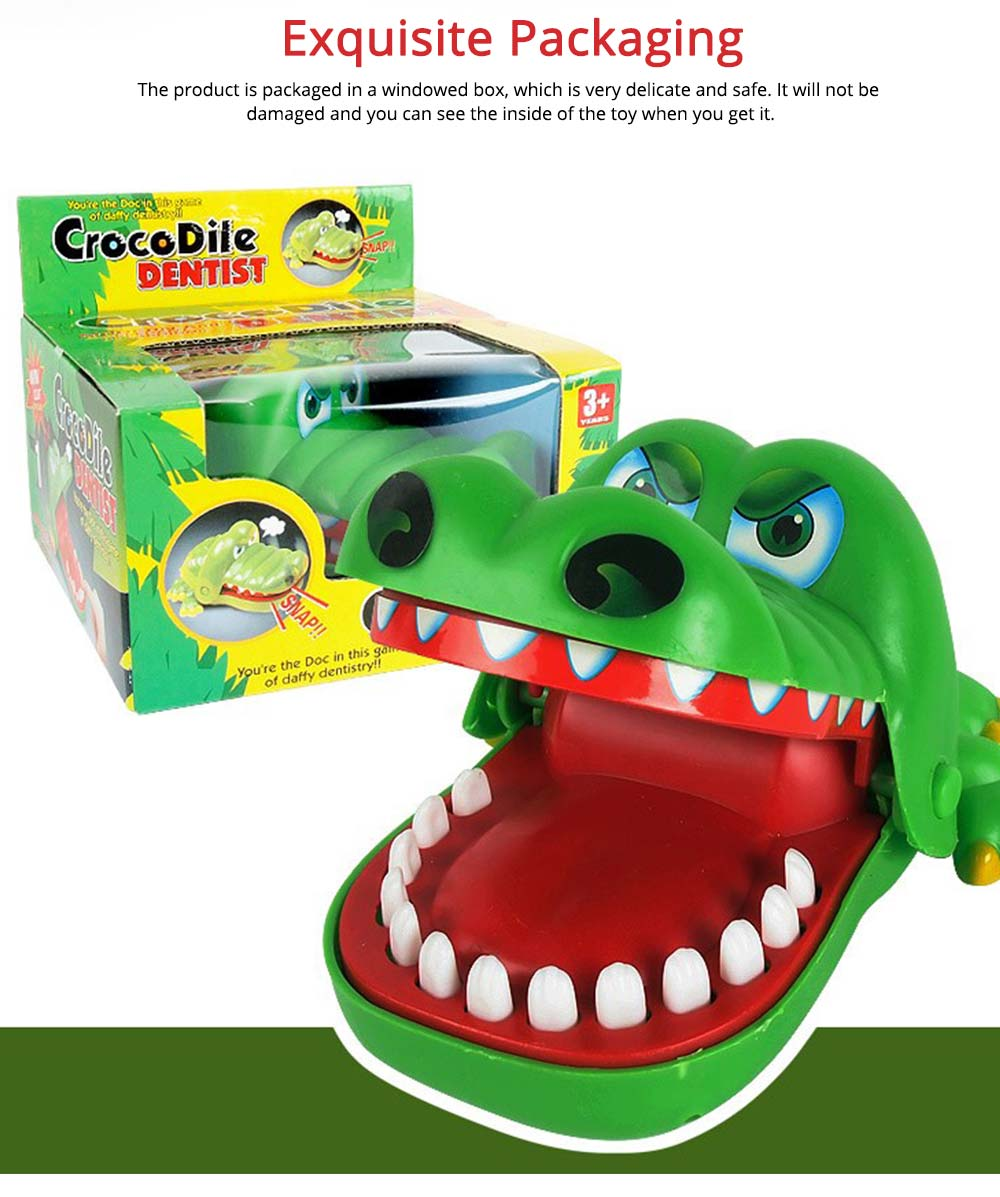 Small Tricky Animal Toys, Lifelike Teeth Finger Biting Toy with Lights and Sound Effects, Perfect Gift for Children 5