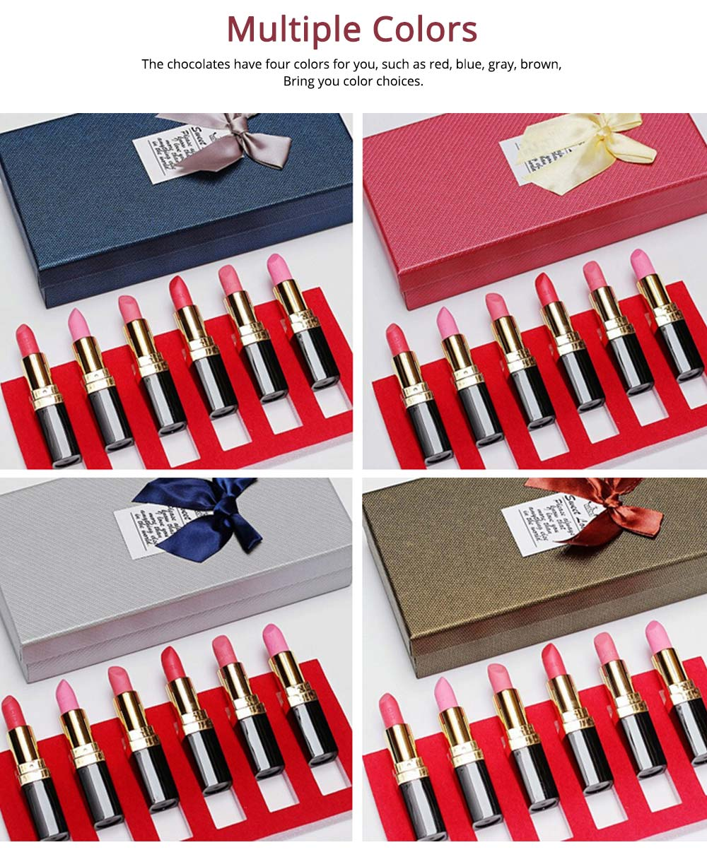 Chocolate Lipstick Shape Funny Gift for Girl, Women's Day Creative Sweet Candy April Fools Day Gift 2