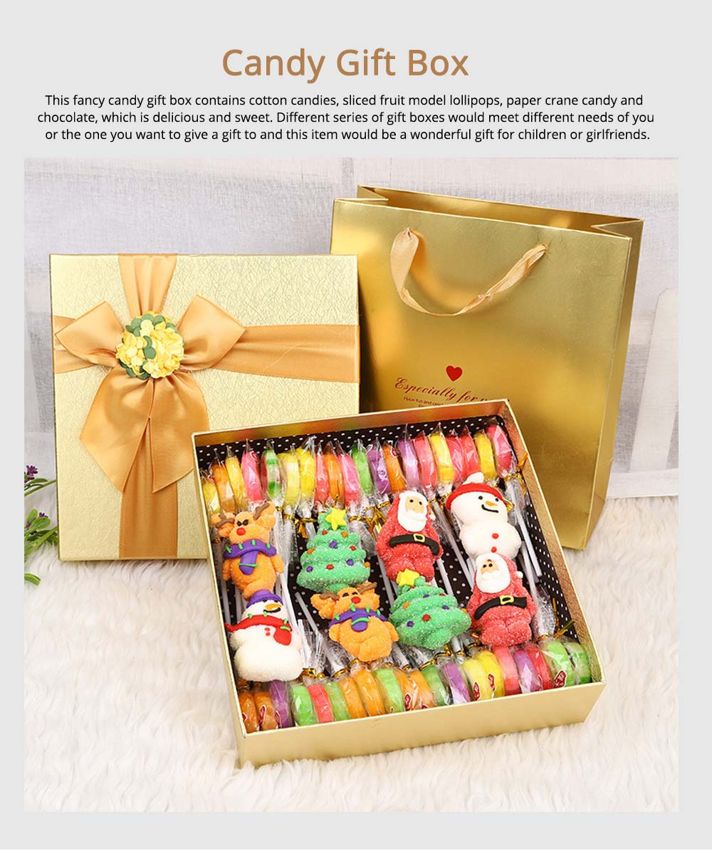 Fancy Easter Candy Gift Box  for Kids, Cotton Candy Marshmallow Lollipop Chocolate  8