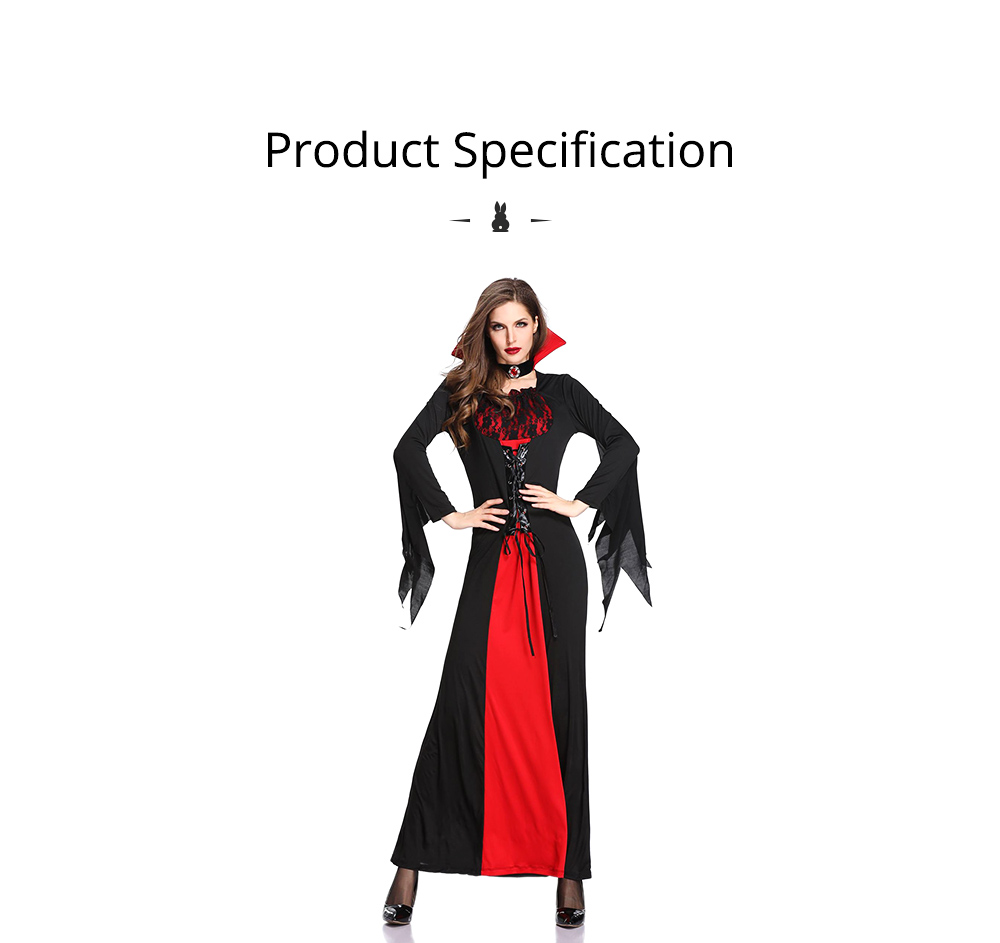 Vampire Costume, Queen Dress for Halloween Easter Christmas, Halloween Costume for Women Adult Cosplay Dress Role Playing Costume 6