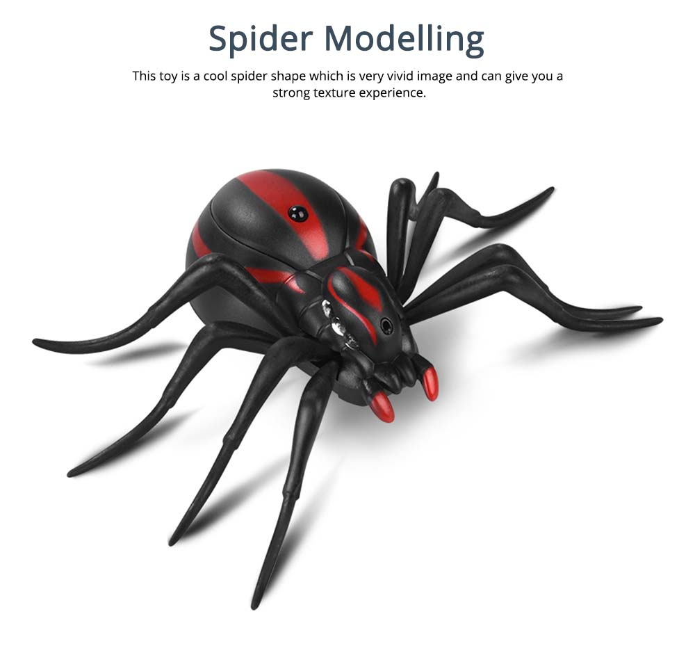 Imitation Electric Cool Spiders With Lighting Effects and Can Be Infrared Remote Control, Wacky Toy Same as Tik Tok 1