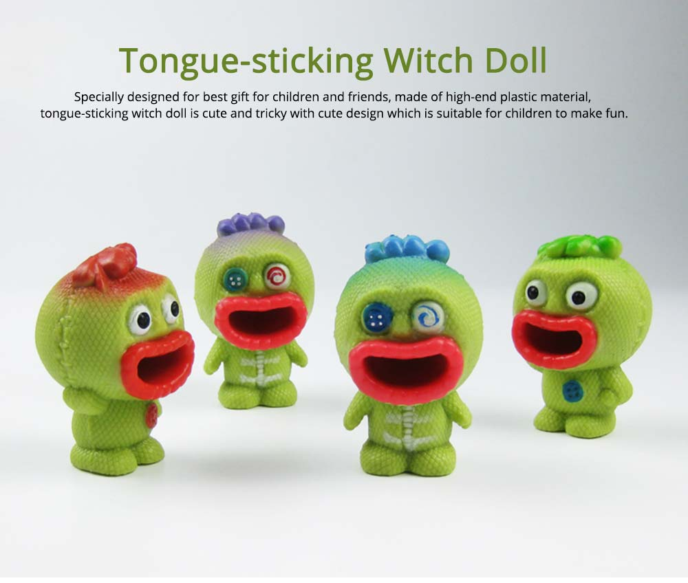 Tongue-sticking Witch Doll Spitting Out Tongue from Red Big Mouth, Tricky Present for Friends 0