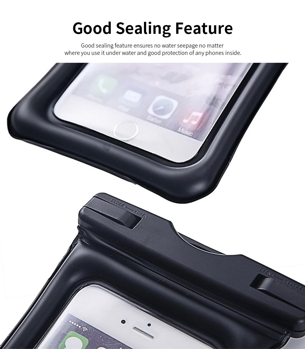 Aerated Floating Waterproof Phone Case for Outdoor Activities, PVC Outdoor Waterproof Air Bag 3