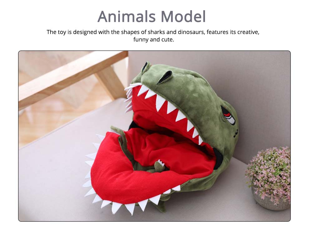 Stuffed Toys Funny Pillow Sharks and Dinosaurs Shape PP Plush Material Gift for Girl  3