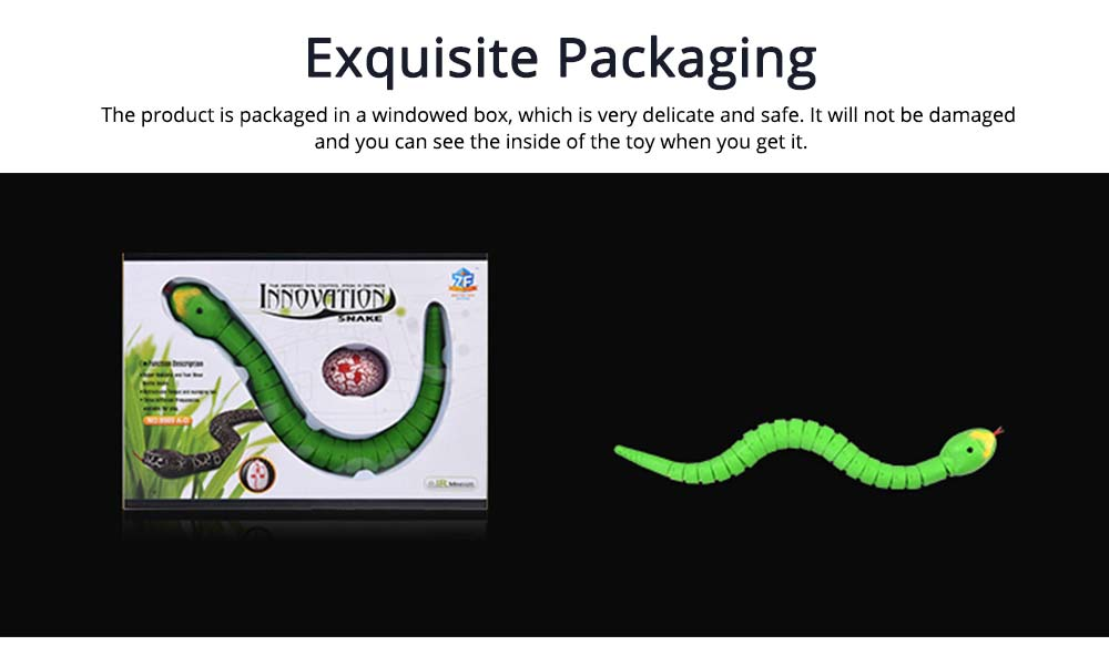 Imitation Electric Snake Wacky Toy With USB Charging Cable, Flexible Joints & Remote Control 5