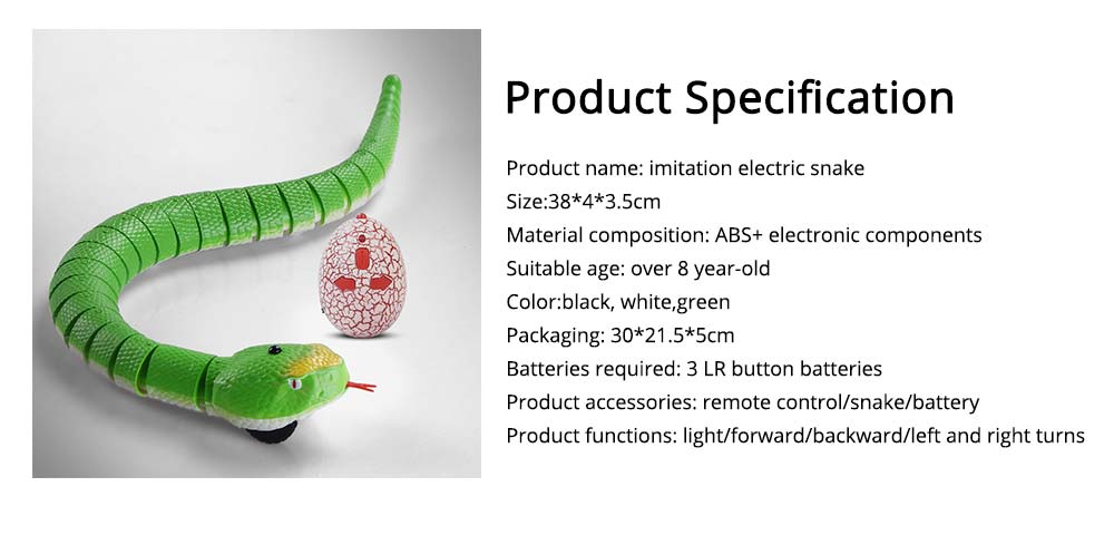Imitation Electric Snake Wacky Toy With USB Charging Cable, Flexible Joints & Remote Control 7