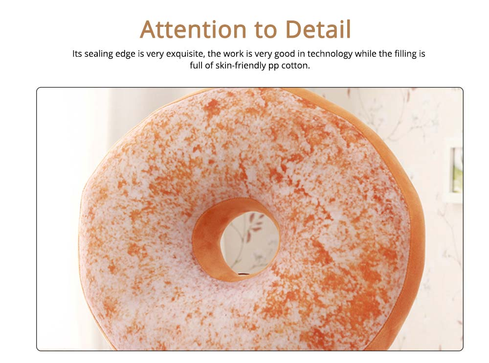 Imitation Doughnut Shape Pillow, Realistic Soft Cotton Pillow with Special 3D Effect, Printing Design Cotton Pillow 3