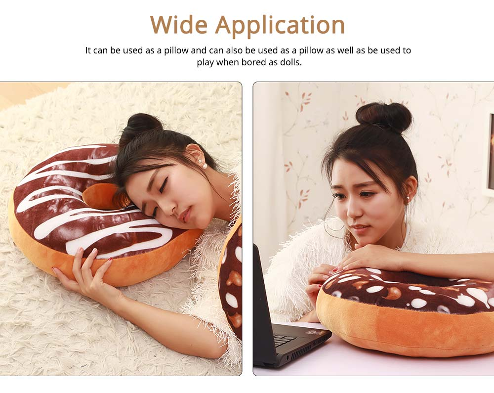 Imitation Doughnut Shape Pillow, Realistic Soft Cotton Pillow with Special 3D Effect, Printing Design Cotton Pillow 4