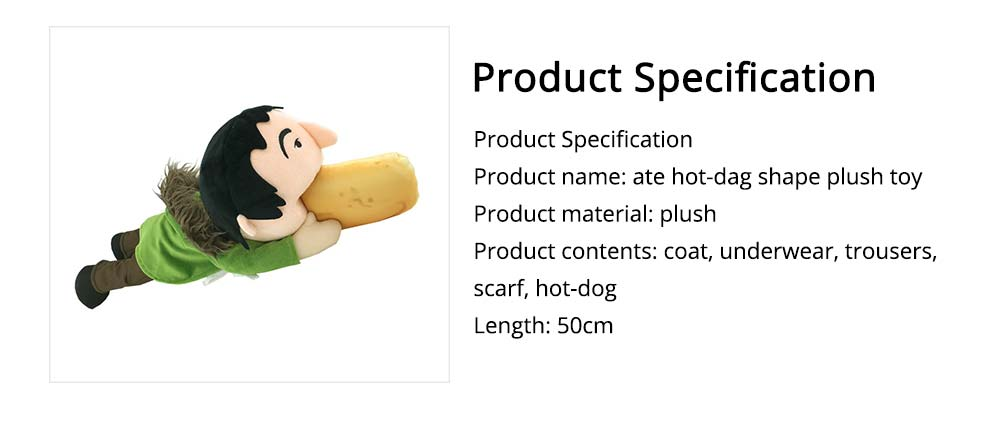 Toy People Eating Hot-dog Shape Popular Style Plush Gift Soft Pillow, League of Legends Products for April Fool's Day Gift 6
