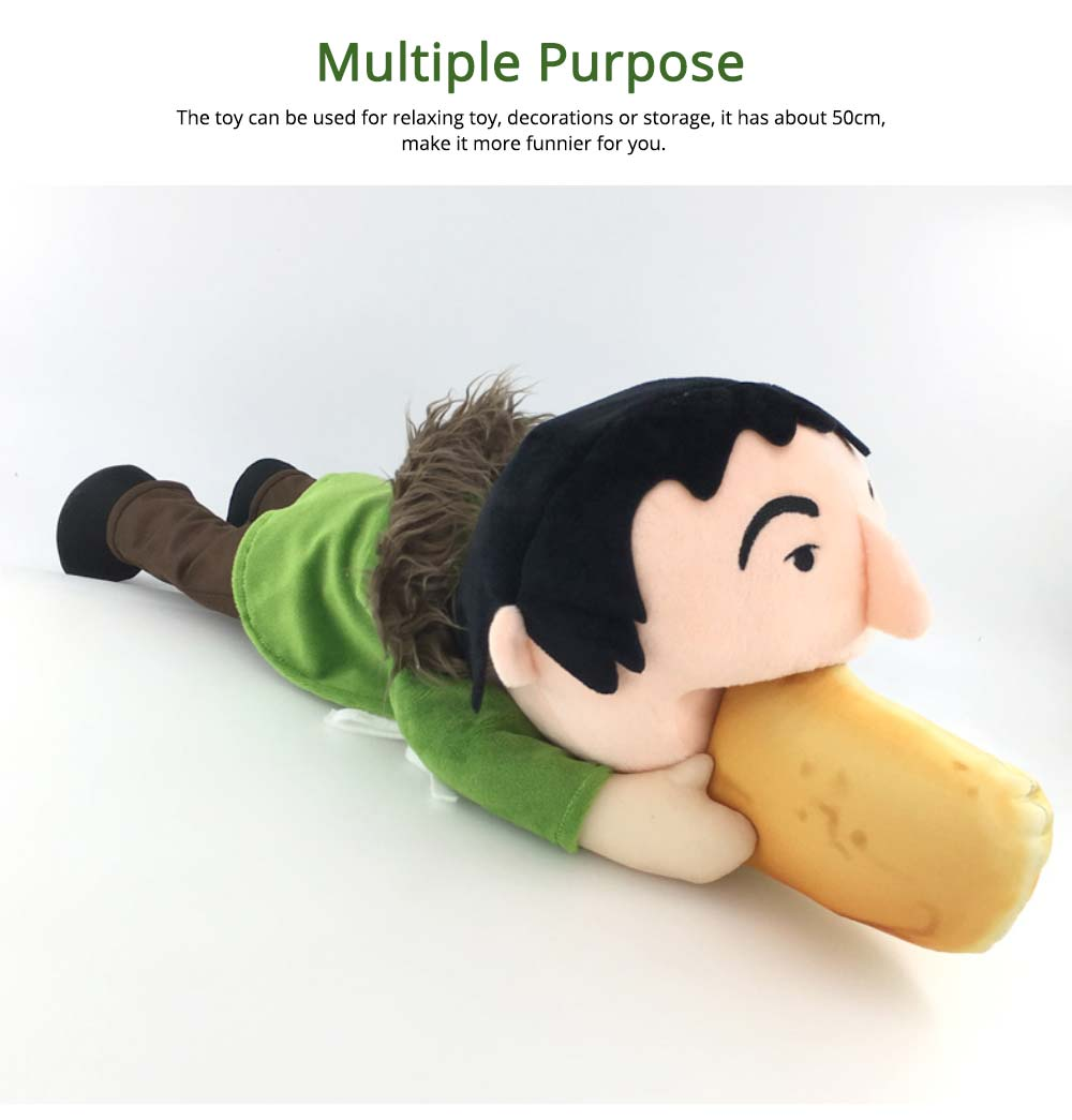 Toy People Eating Hot-dog Shape Popular Style Plush Gift Soft Pillow, League of Legends Products for April Fool's Day Gift 4