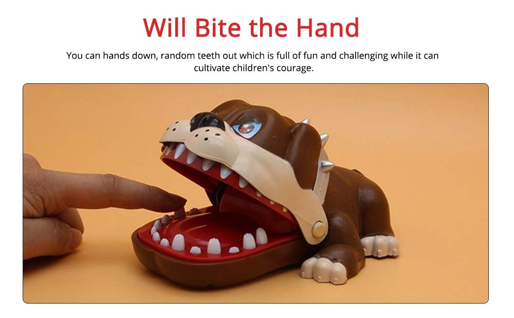 Small Tricky Animal Toys, Lifelike Teeth Finger Biting Toy with Lights and Sound Effects, Perfect Gift for Children 1