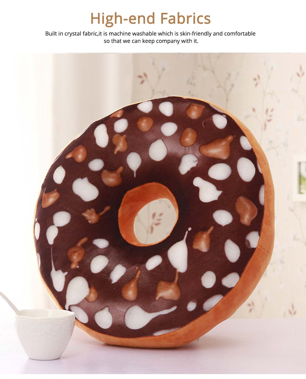 Imitation Doughnut Shape Pillow, Realistic Soft Cotton Pillow with Special 3D Effect, Printing Design Cotton Pillow 2