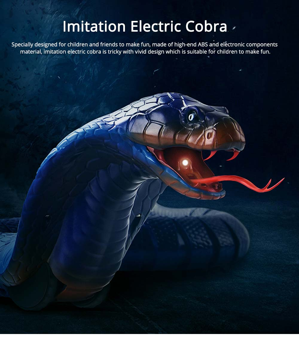 Remote control electric snakes from toys, Imitation cobra with flexible Joints, Shake sound with a Parody Toy 0