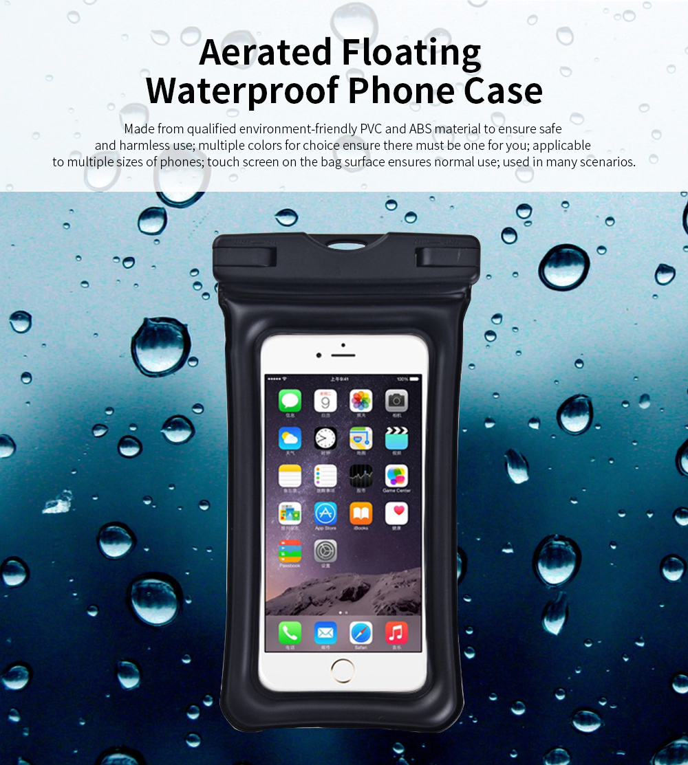 Aerated Floating Waterproof Phone Case for Outdoor Activities, PVC Outdoor Waterproof Air Bag 0