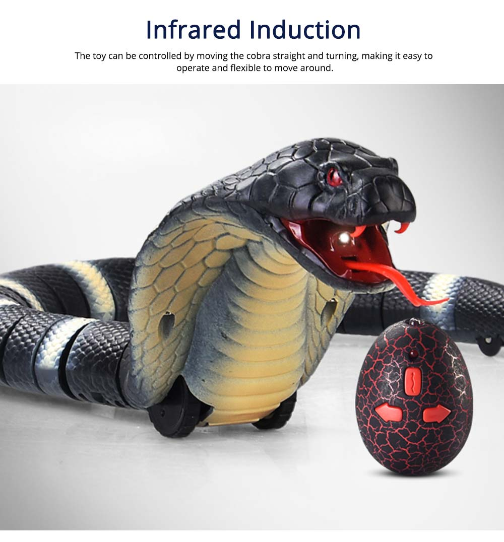 Remote control electric snakes from toys, Imitation cobra with flexible Joints, Shake sound with a Parody Toy 4