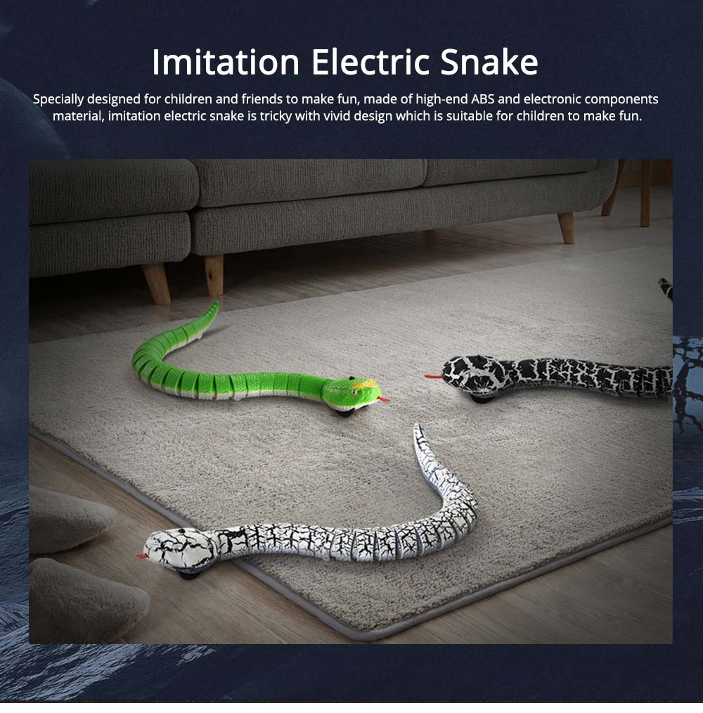 Imitation Electric Snake Wacky Toy With USB Charging Cable, Flexible Joints & Remote Control 0