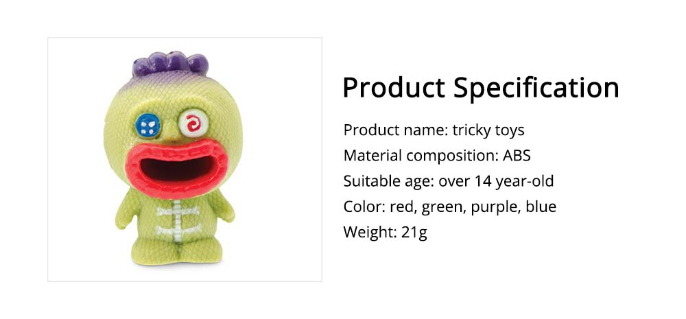 Tongue-sticking Witch Doll Spitting Out Tongue from Red Big Mouth, Tricky Present for Friends 6