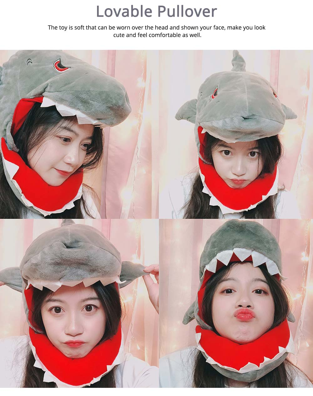 Stuffed Toys Funny Pillow Sharks and Dinosaurs Shape PP Plush Material Gift for Girl  4