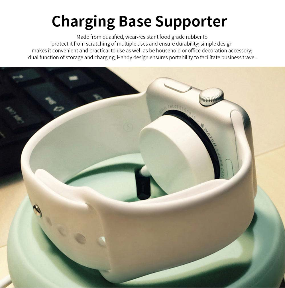 Charge Base Supporter for Apple Watch, Power Charging Base Supporter on Table or Bedside 0