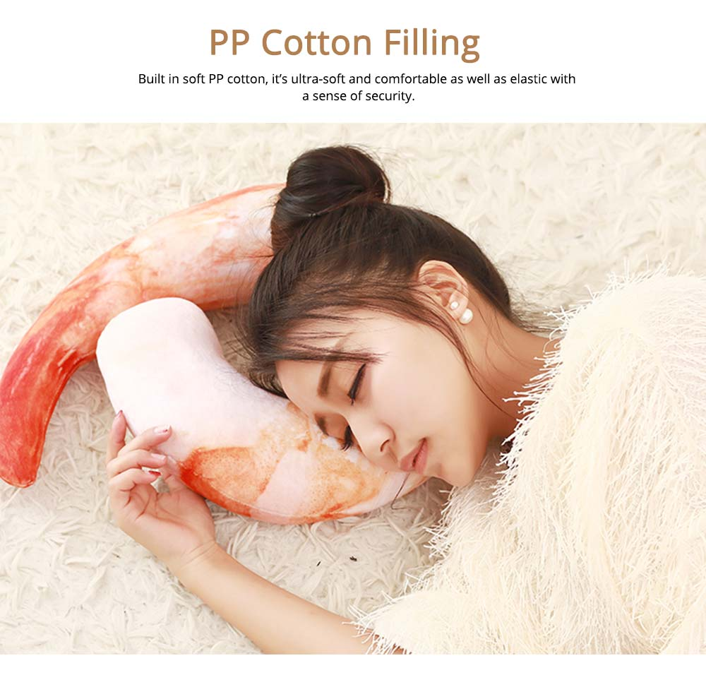 Imitation Shrimps & Croissant Pillow, Creative Birthday Gifts with Special 3D Effect, Printing Cotton Pillow 5
