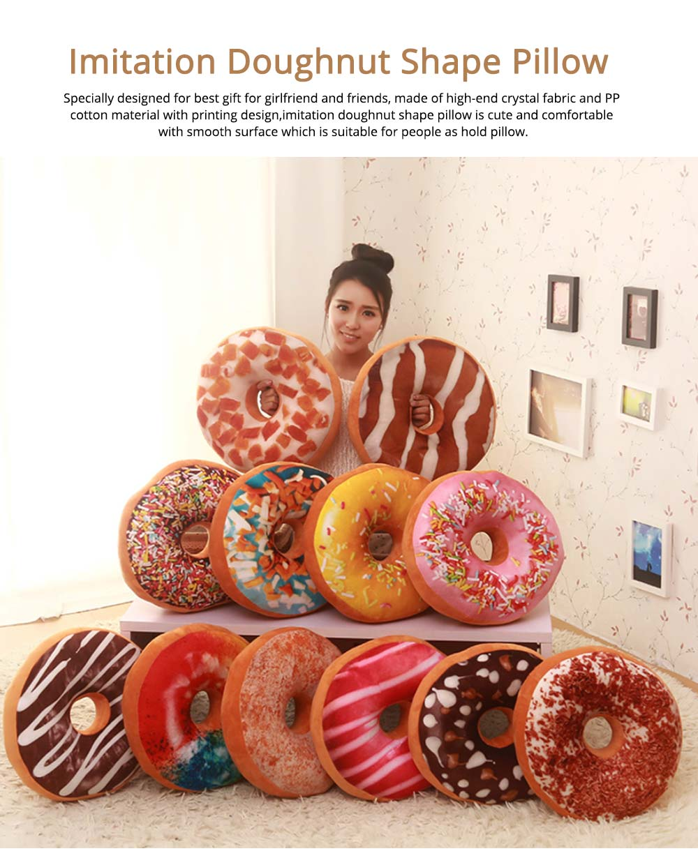 Imitation Doughnut Shape Pillow, Realistic Soft Cotton Pillow with Special 3D Effect, Printing Design Cotton Pillow 0