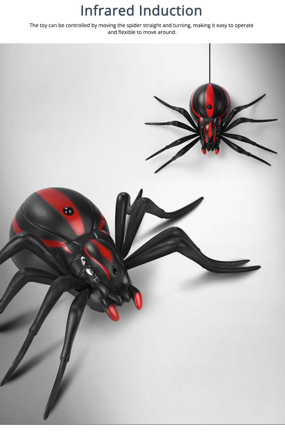 Imitation Electric Cool Spiders With Lighting Effects and Can Be Infrared Remote Control, Wacky Toy Same as Tik Tok 4