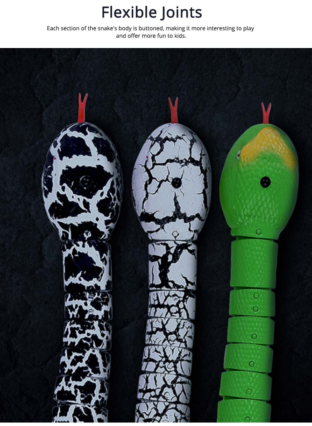 Imitation Electric Snake Wacky Toy With USB Charging Cable, Flexible Joints & Remote Control 6