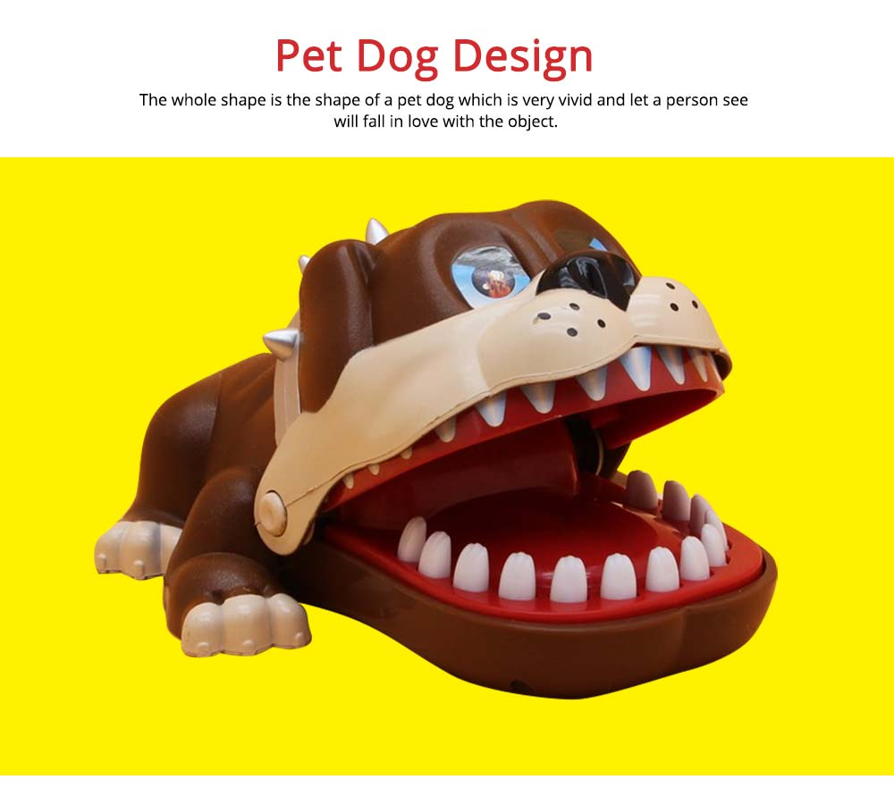 Small Tricky Animal Toys, Lifelike Teeth Finger Biting Toy with Lights and Sound Effects, Perfect Gift for Children 3