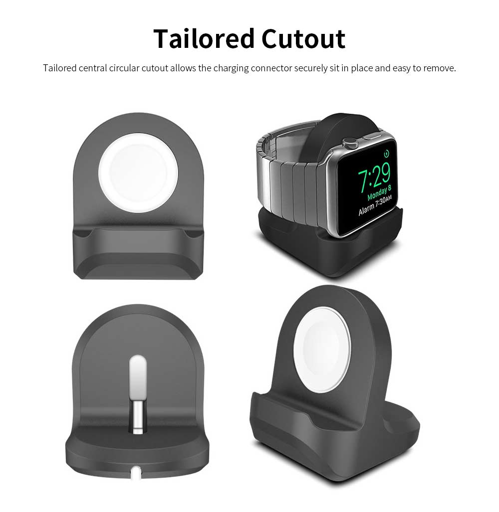 Silica Gel Charging Base for iWatch, Rubber Charging Supporter Power Charger Base for Apple Watch 1/2/3 Series 38/42mm 2