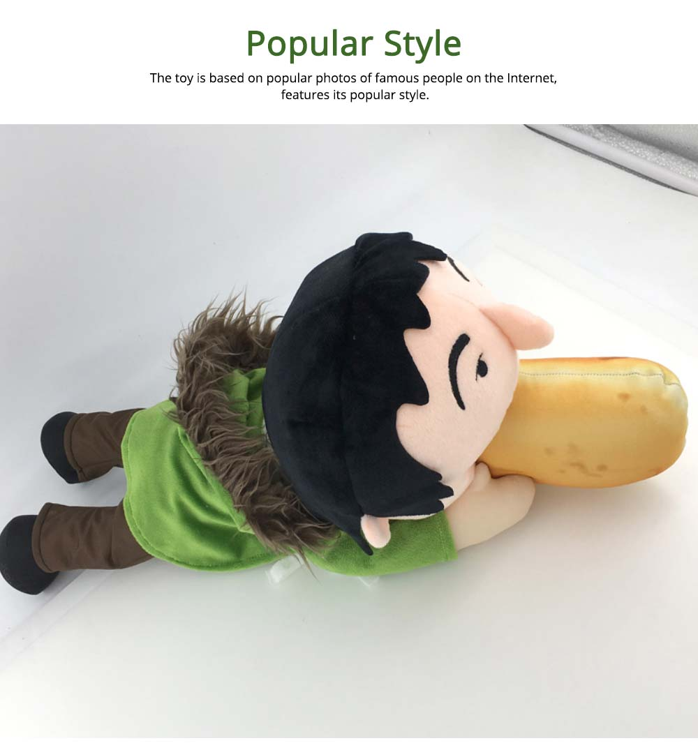Toy People Eating Hot-dog Shape Popular Style Plush Gift Soft Pillow, League of Legends Products for April Fool's Day Gift 2