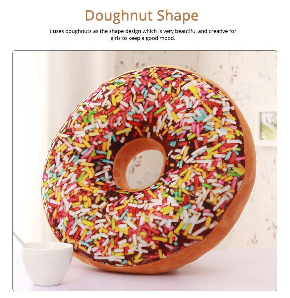 Imitation Doughnut Shape Pillow, Realistic Soft Cotton Pillow with Special 3D Effect, Printing Design Cotton Pillow 1
