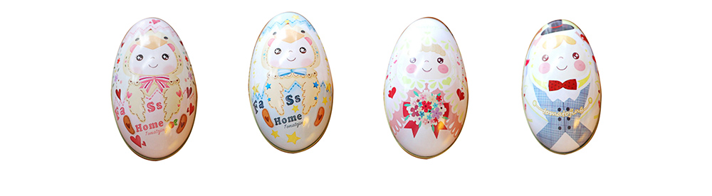 Sugars Easter Egg Confectionery Box, Creative Candy Box for Wedding, One Month Baby Celebration Bonbon Box 10